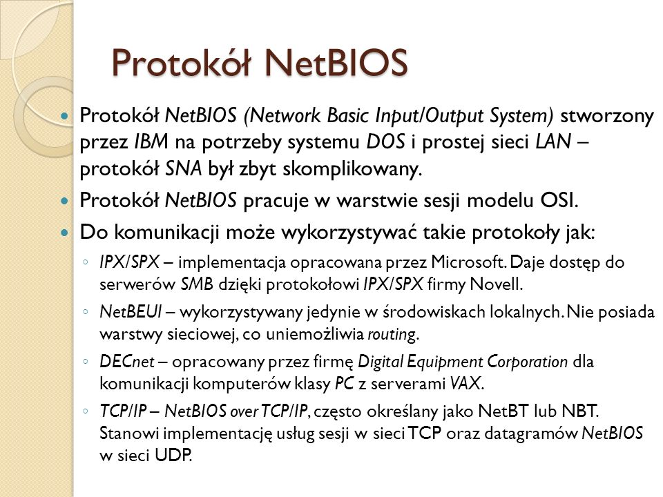 Protokół NetBIOS