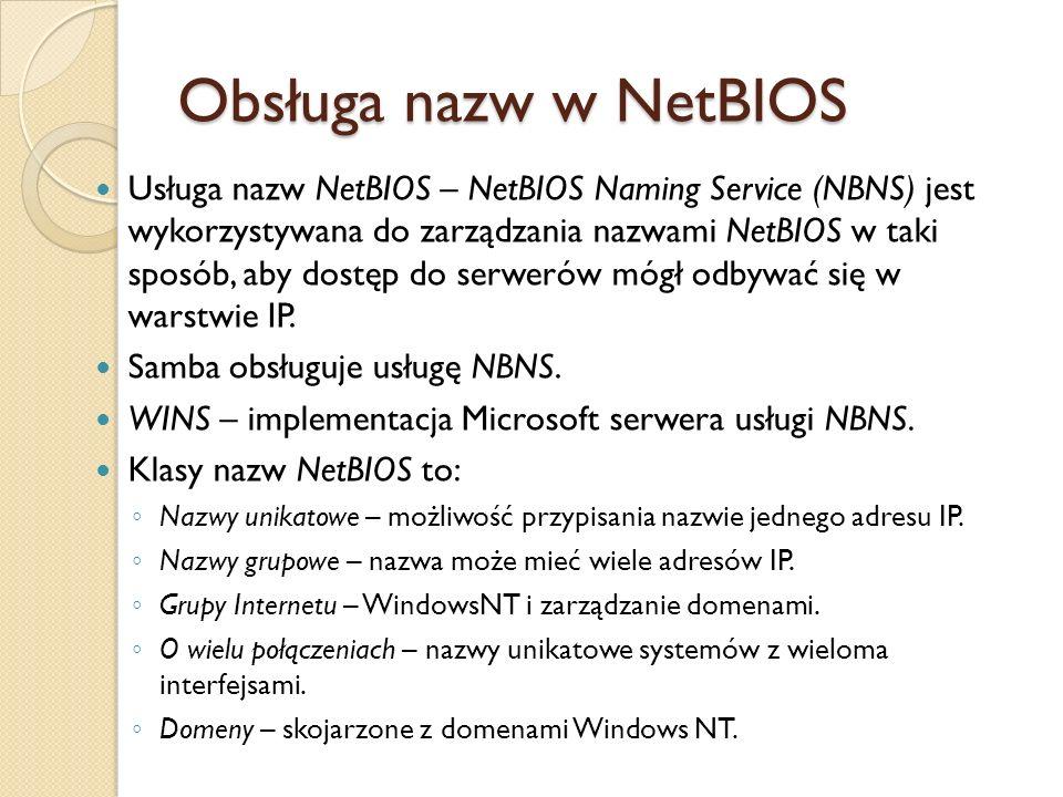 Obsługa nazw w NetBIOS
