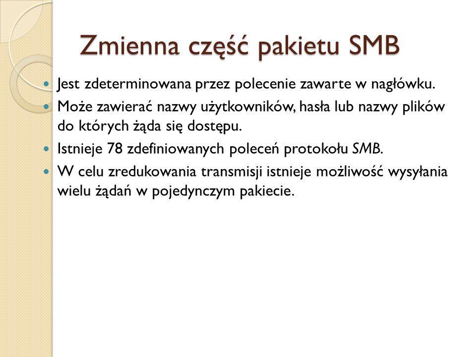 Zmienna część pakietu SMB