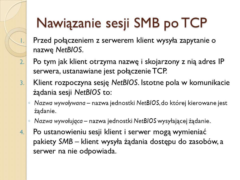 Nawiązanie sesji SMB po TCP