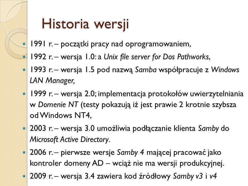 Historia wersji 1991 r. – początki pracy nad oprogramowaniem,