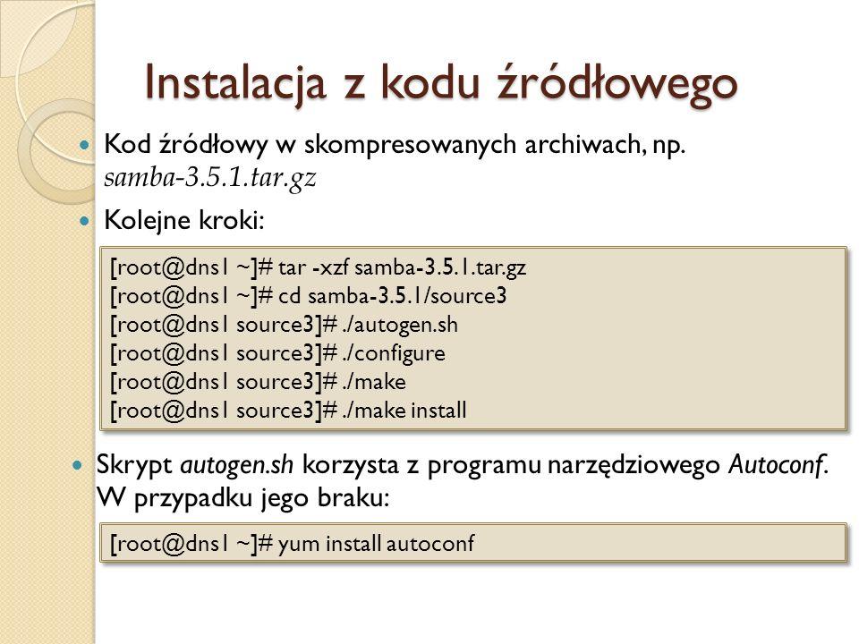 Instalacja z kodu źródłowego