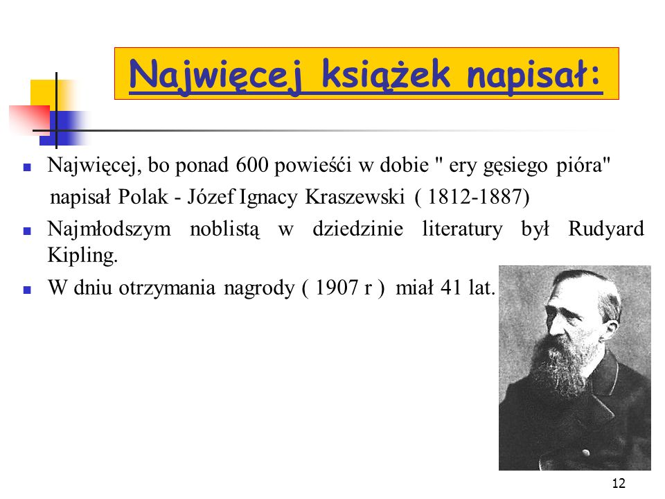 Najwięcej książek napisał: