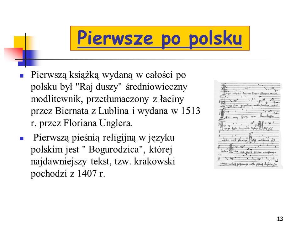Pierwsze po polsku