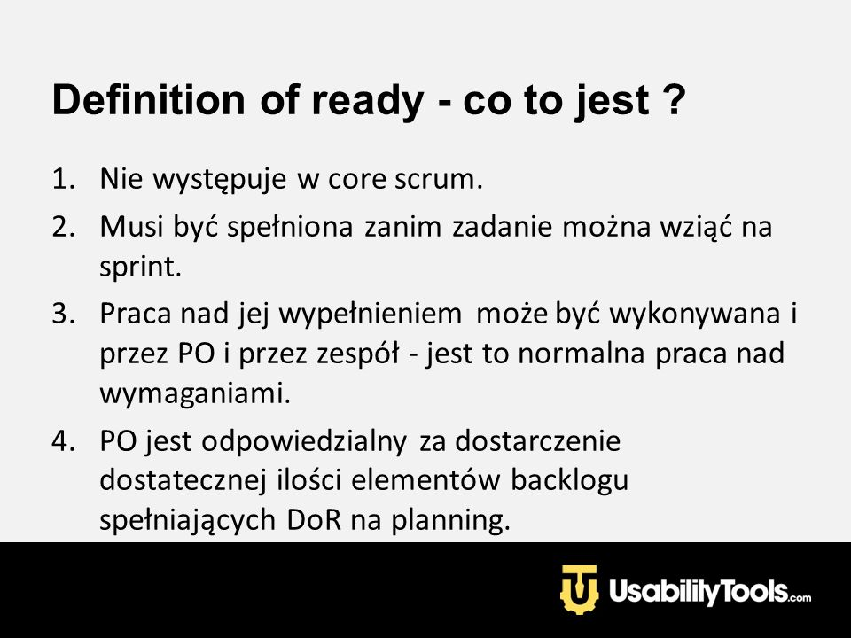 Definition of ready - co to jest