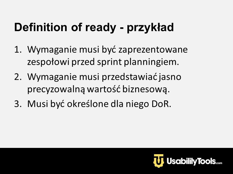 Definition of ready - przykład