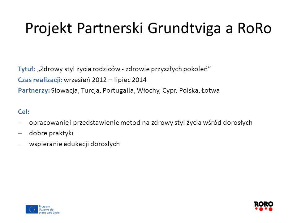Projekt Partnerski Grundtviga a RoRo