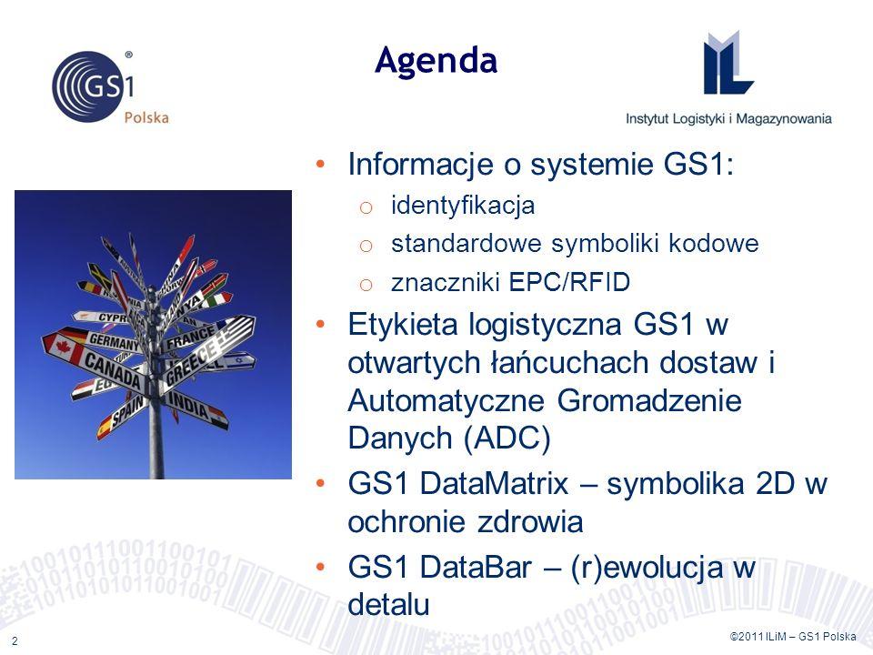 Agenda Informacje o systemie GS1:
