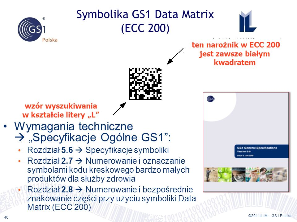 Symbolika GS1 Data Matrix (ECC 200)
