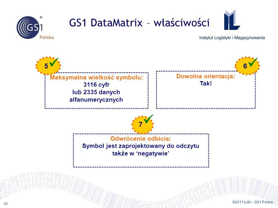GS1 DataMatrix – właściwości