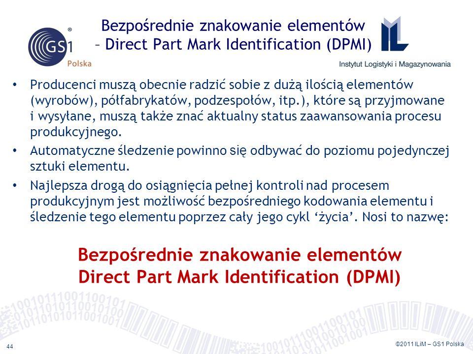 Bezpośrednie znakowanie elementów – Direct Part Mark Identification (DPMI)