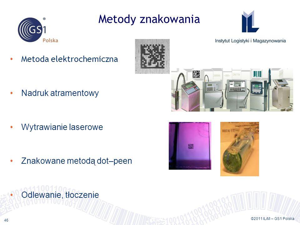 Metody znakowania Metoda elektrochemiczna Nadruk atramentowy