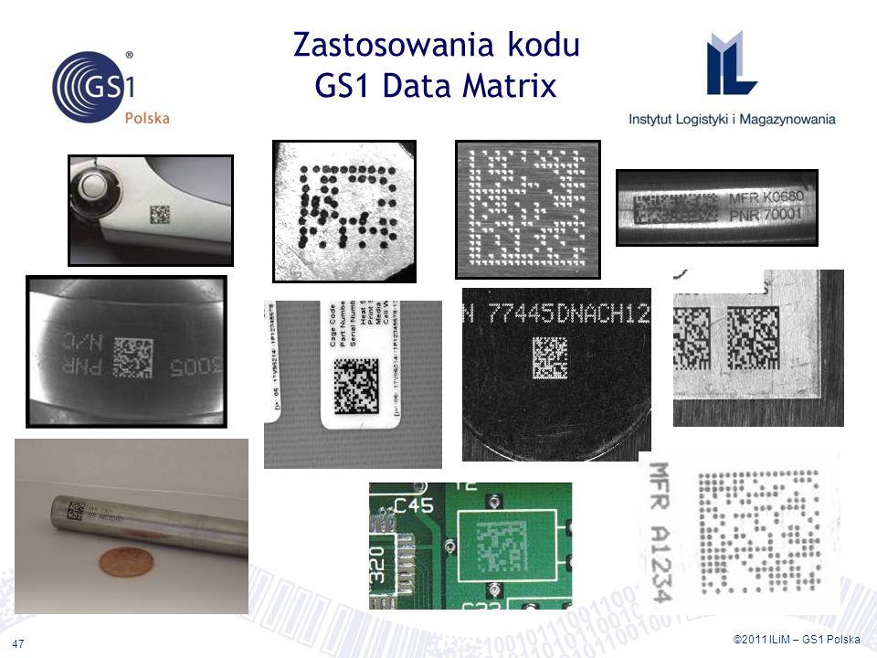 Zastosowania kodu GS1 Data Matrix