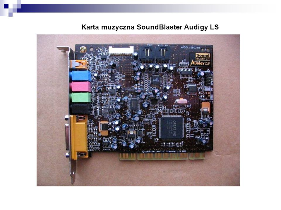 Karta muzyczna SoundBlaster Audigy LS