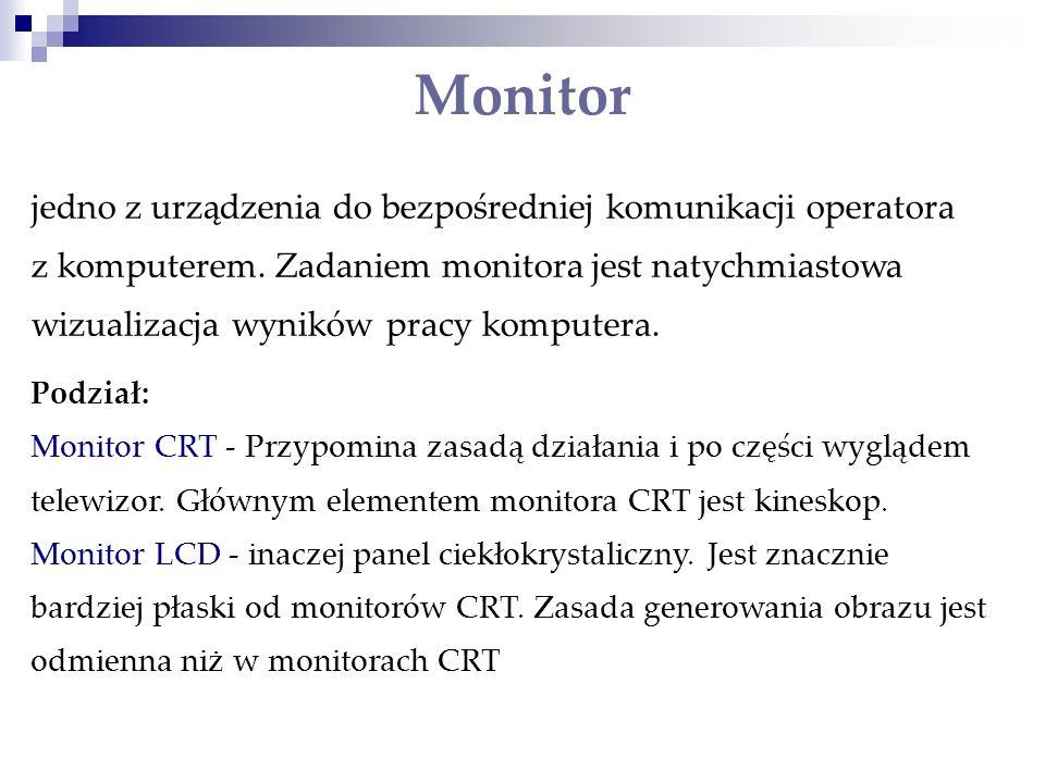 Monitor jedno z urządzenia do bezpośredniej komunikacji operatora