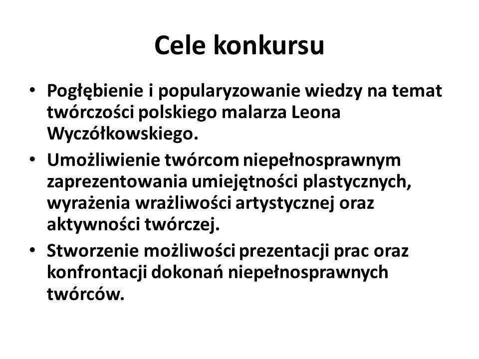 Cele konkursu Pogłębienie i popularyzowanie wiedzy na temat twórczości polskiego malarza Leona Wyczółkowskiego.