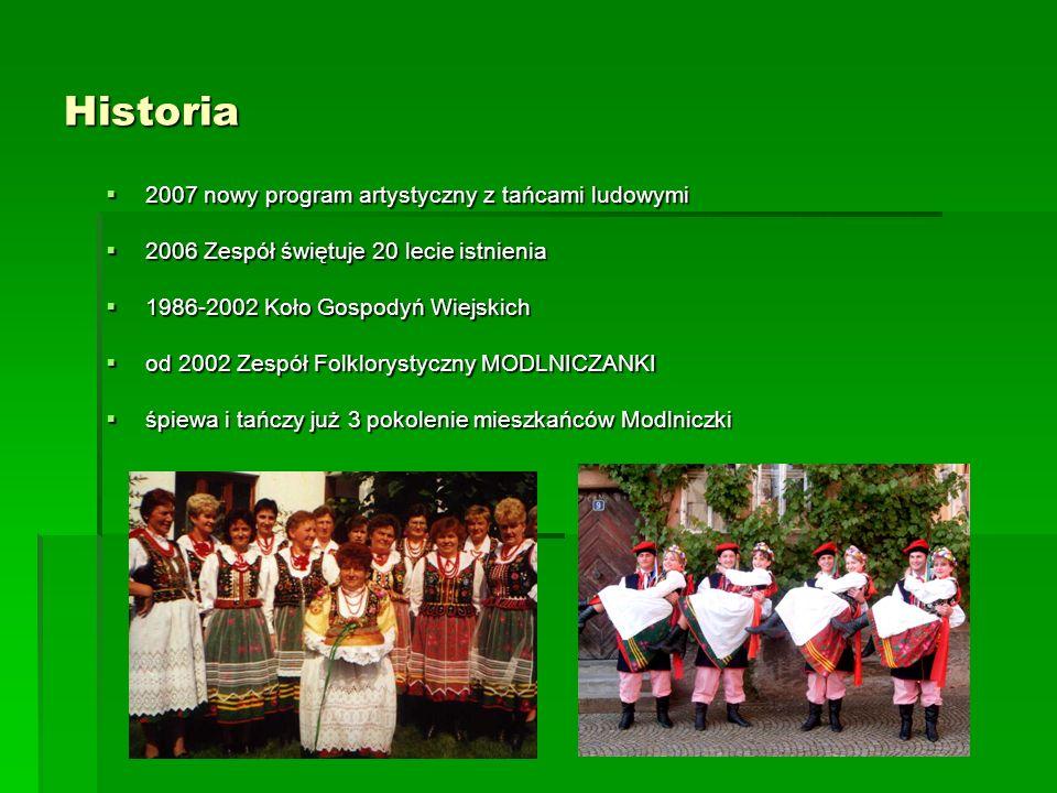 Historia 2007 nowy program artystyczny z tańcami ludowymi