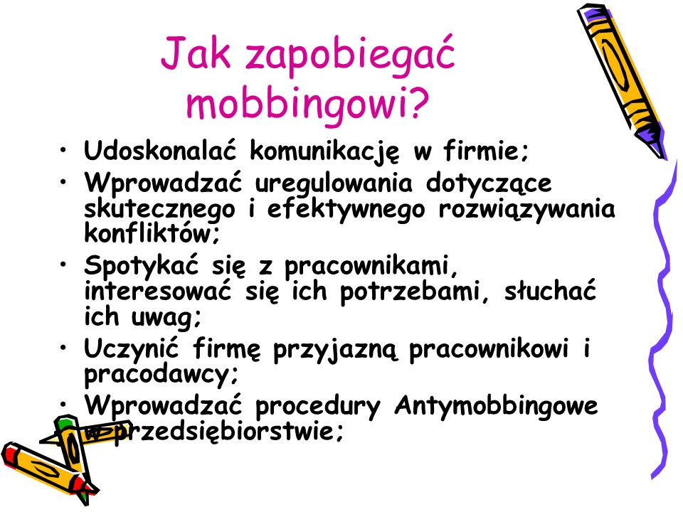 Jak zapobiegać mobbingowi