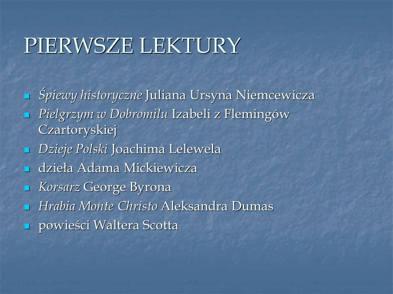 PIERWSZE LEKTURY Śpiewy historyczne Juliana Ursyna Niemcewicza