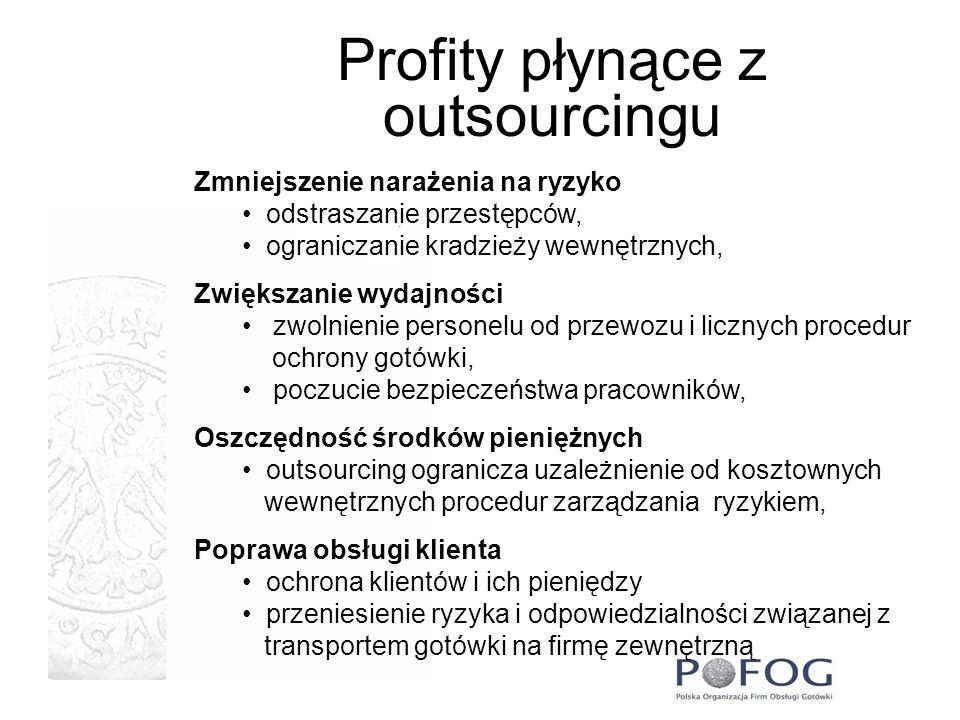 Profity płynące z outsourcingu