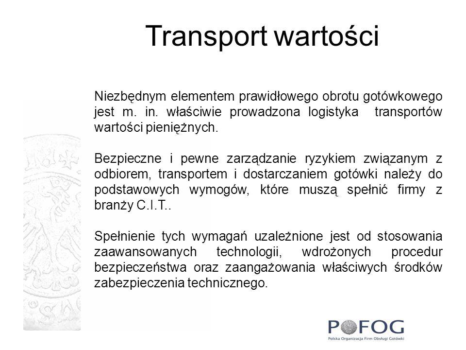 Transport wartości Niezbędnym elementem prawidłowego obrotu gotówkowego jest m. in. właściwie prowadzona logistyka transportów wartości pieniężnych.