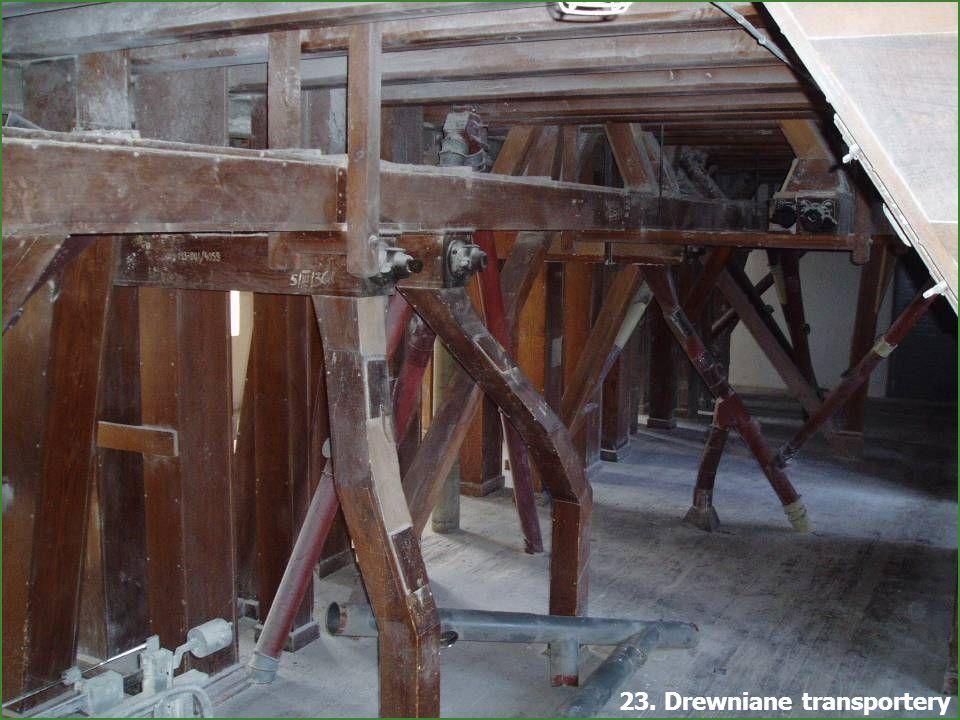 23. Drewniane transportery