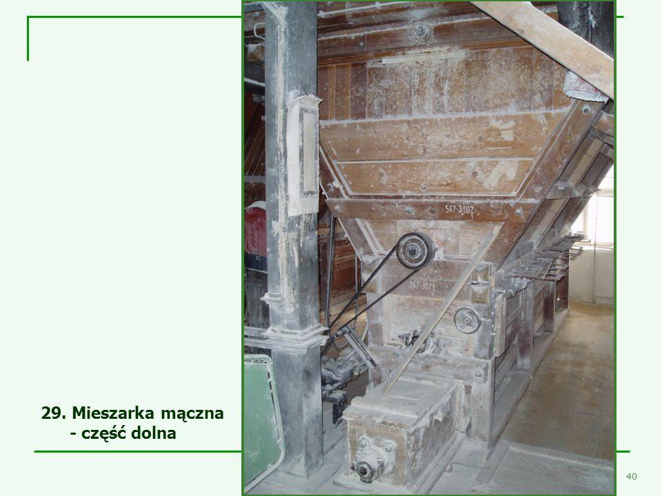 29. Mieszarka mączna - część dolna Mieszarka mączna II