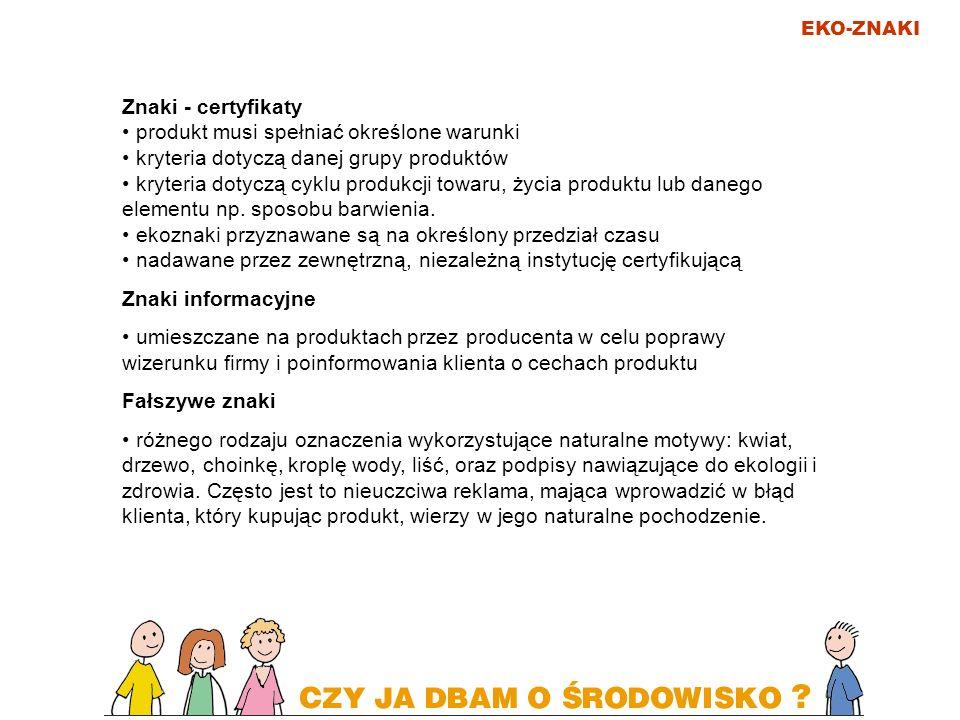 produkt musi spełniać określone warunki