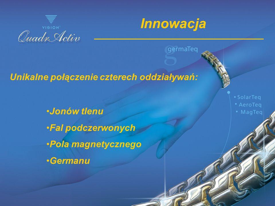 Innowacja Unikalne połączenie czterech oddziaływań: Jonów tlenu