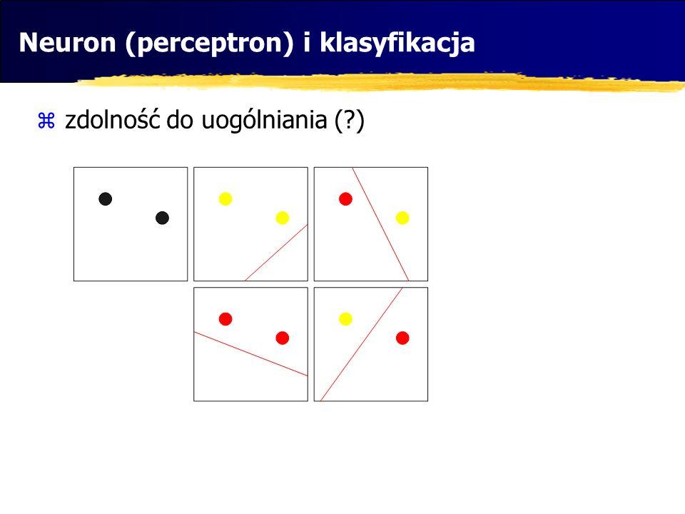 Neuron (perceptron) i klasyfikacja
