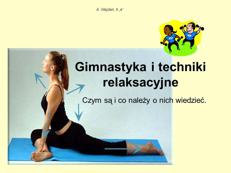 Gimnastyka i techniki relaksacyjne