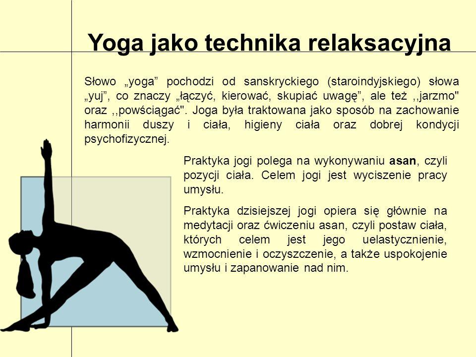 Yoga jako technika relaksacyjna