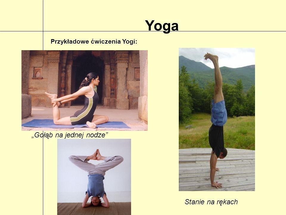 """Yoga """"Gołąb na jednej nodze Stanie na rękach"""