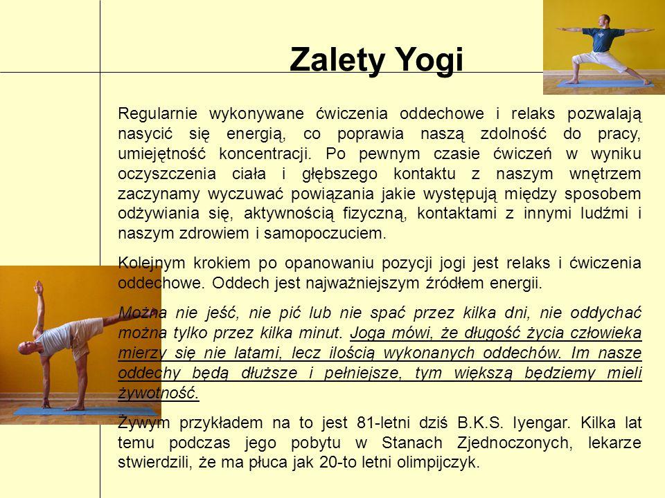 Zalety Yogi