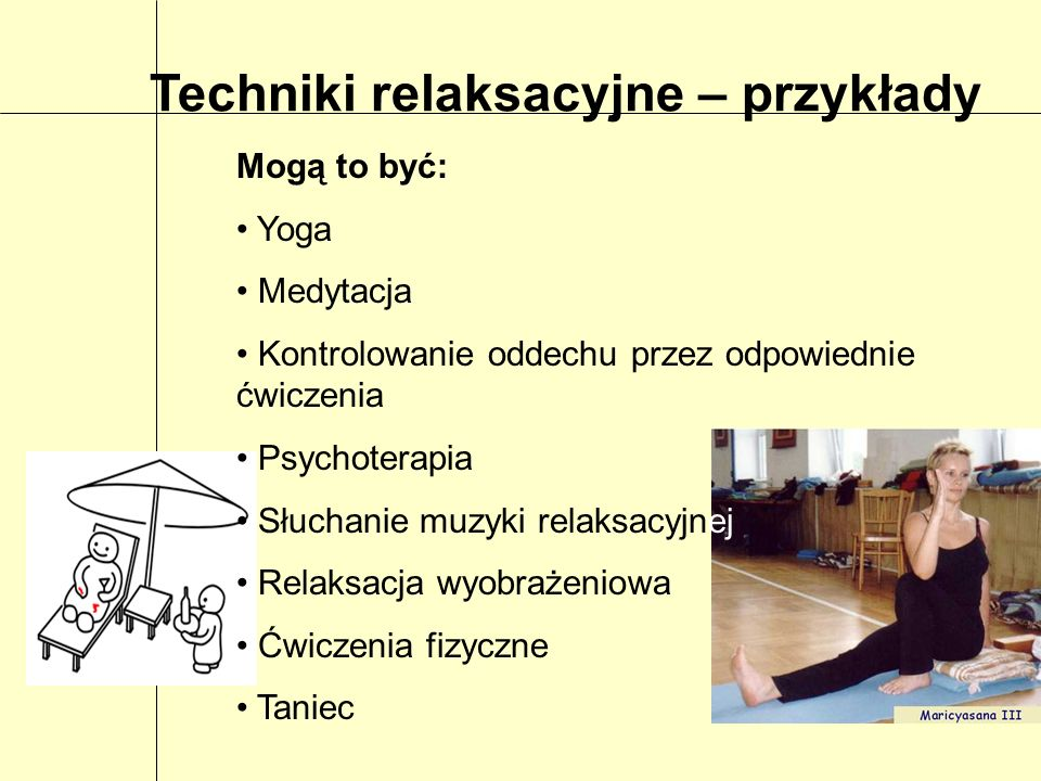 Techniki relaksacyjne – przykłady