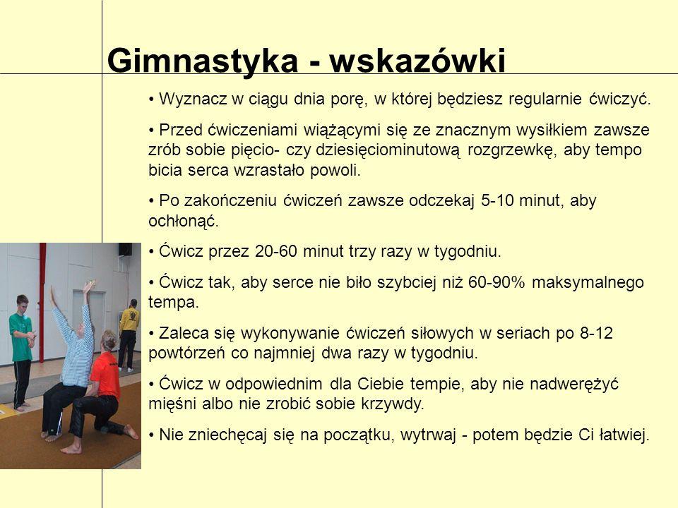 Gimnastyka - wskazówki
