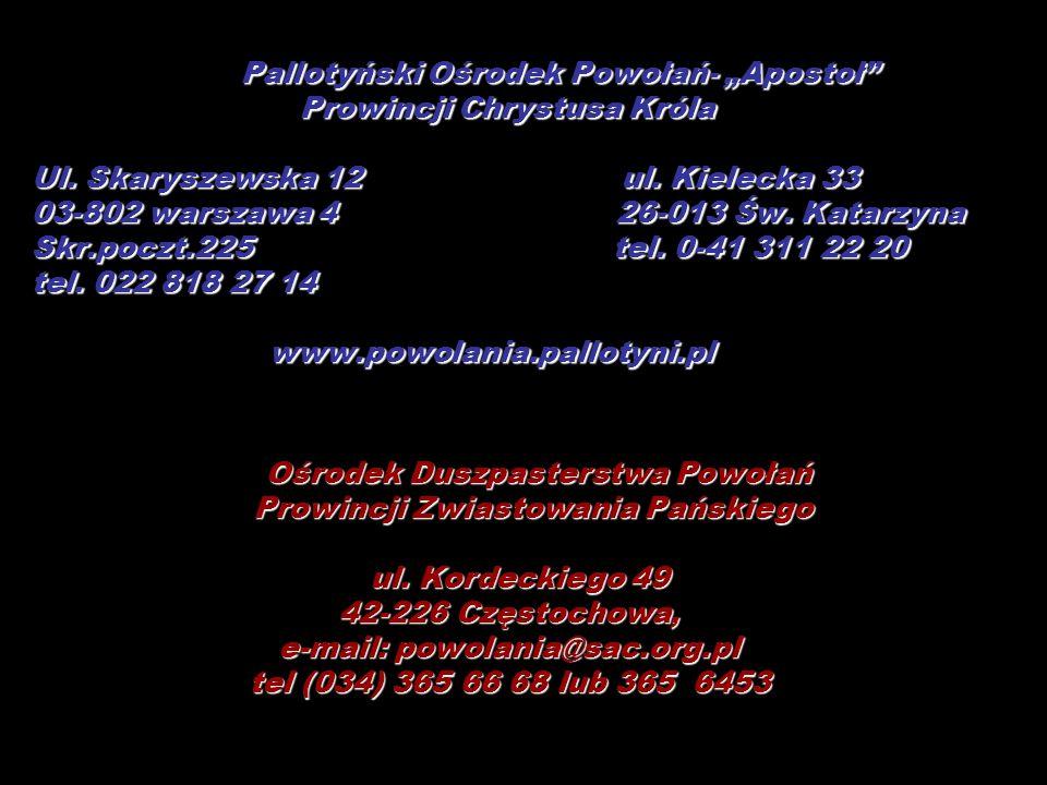Prowincji Chrystusa Króla Ul. Skaryszewska 12 ul. Kielecka 33