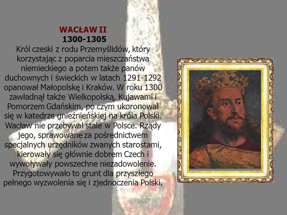 WACŁAW II 1300-1305