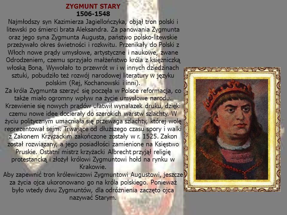 ZYGMUNT STARY 1506-1548