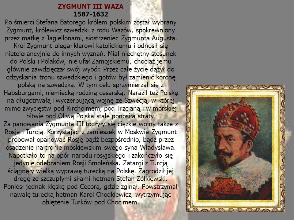 ZYGMUNT III WAZA 1587-1632