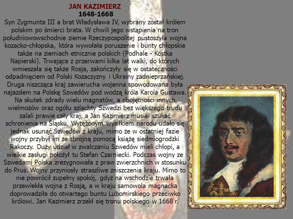 JAN KAZIMIERZ 1648-1668