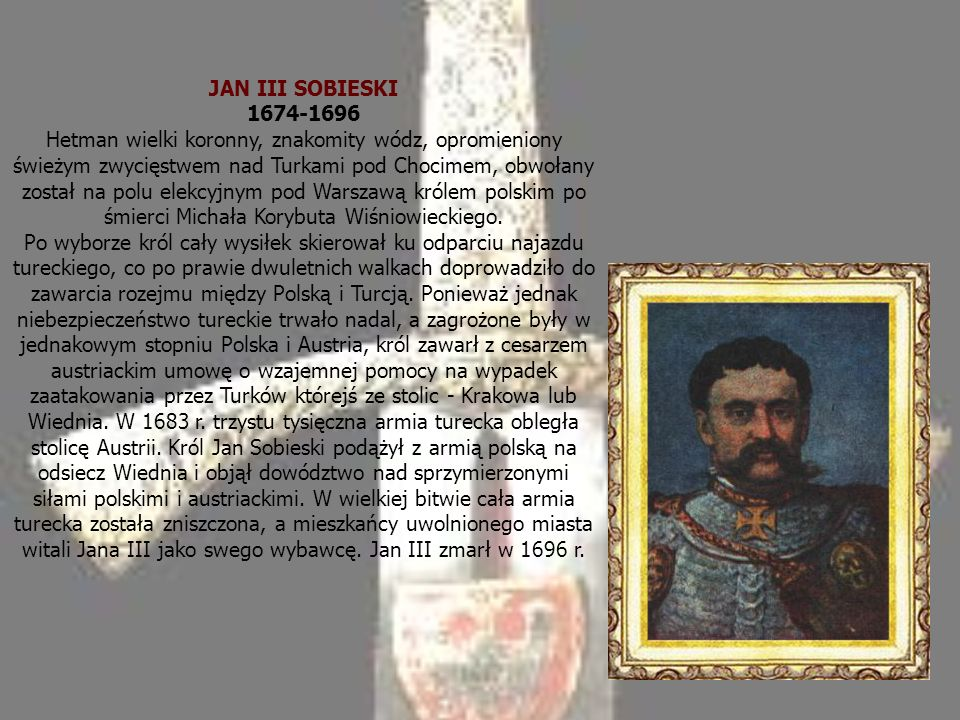 JAN III SOBIESKI 1674-1696