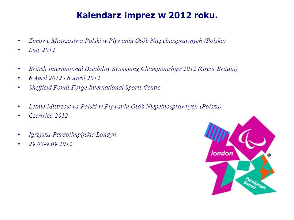 Kalendarz imprez w 2012 roku.