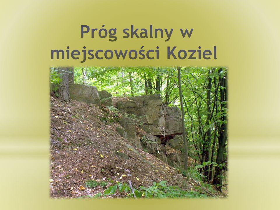 Próg skalny w miejscowości Koziel