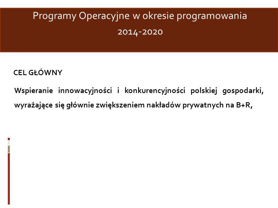 Programy Operacyjne w okresie programowania