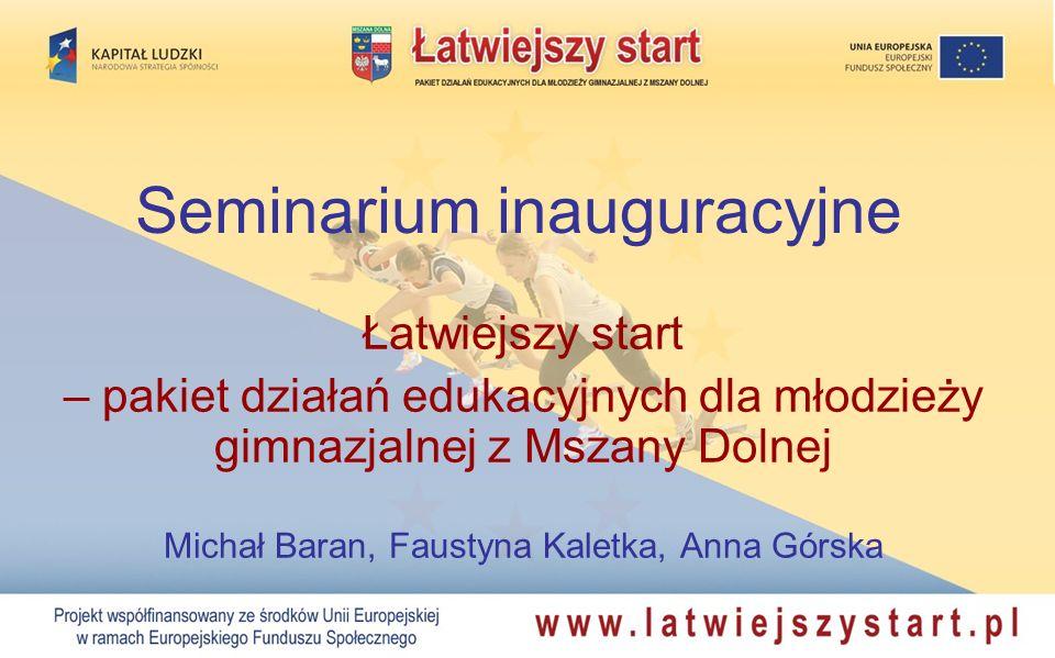 Seminarium inauguracyjne