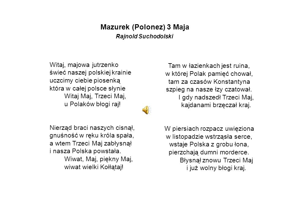 Mazurek (Polonez) 3 Maja