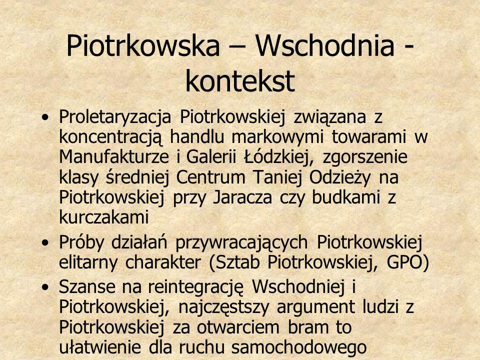 Piotrkowska – Wschodnia -kontekst