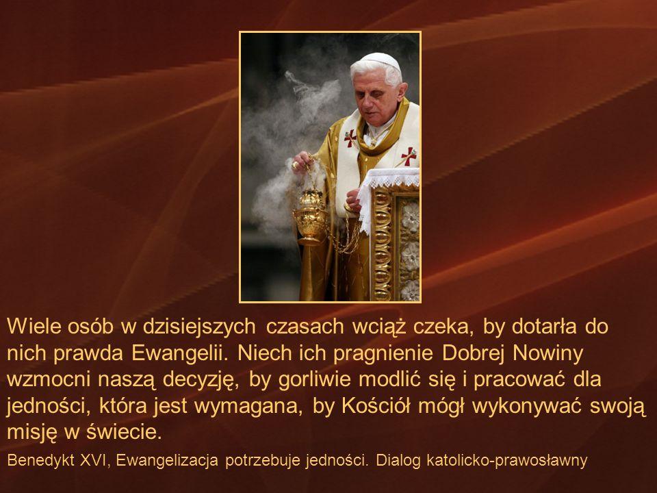 Wiele osób w dzisiejszych czasach wciąż czeka, by dotarła do nich prawda Ewangelii. Niech ich pragnienie Dobrej Nowiny wzmocni naszą decyzję, by gorliwie modlić się i pracować dla jedności, która jest wymagana, by Kościół mógł wykonywać swoją misję w świecie.