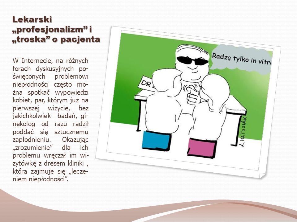 """Lekarski """"profesjonalizm i """"troska o pacjenta"""